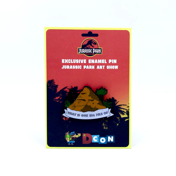That Is One Big Pile Of Shit: Officially Licensed Jurassic Park Enamel Pin