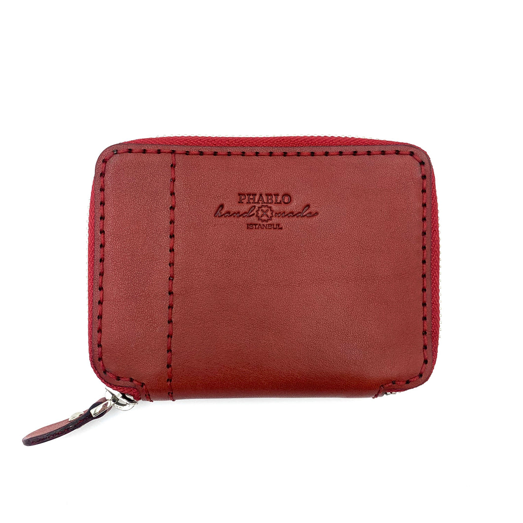 Zip Wallet S W/O Coin Case Red
