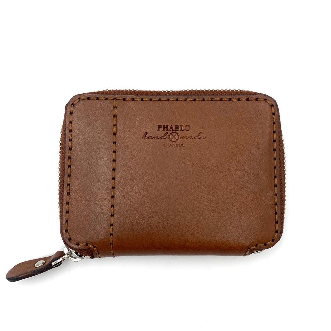 Zip Wallet S W/O Coin Case Camel