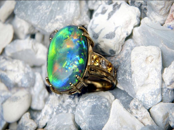 Union of Unique Colour:  Choosing an Opal Engagement Ring