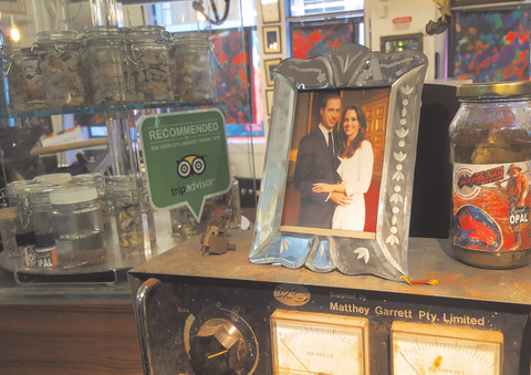 Prince William and Kate Australian Opal Cutters jewellery