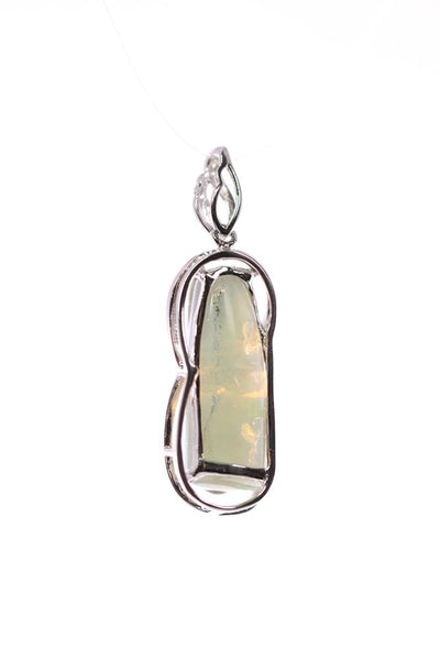 Crystal Opal Pendant set in Sterling Silver 8.90 carat with Cubic Zirconia