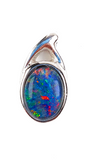 Australian Opal Triplet 7 x 5 mm Pendant set in 925 Sterling Silver