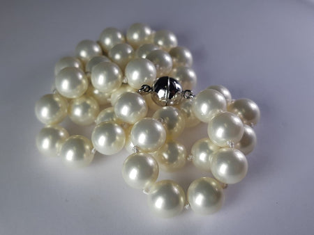 Coated South Sea Pearl 8mm Earrings set in Stainless Steel