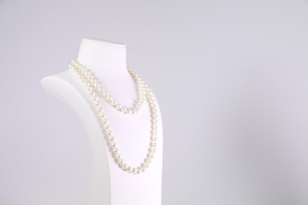 Coated South Sea Pearl Pearl Strand set in Rhodium Plated     10mm