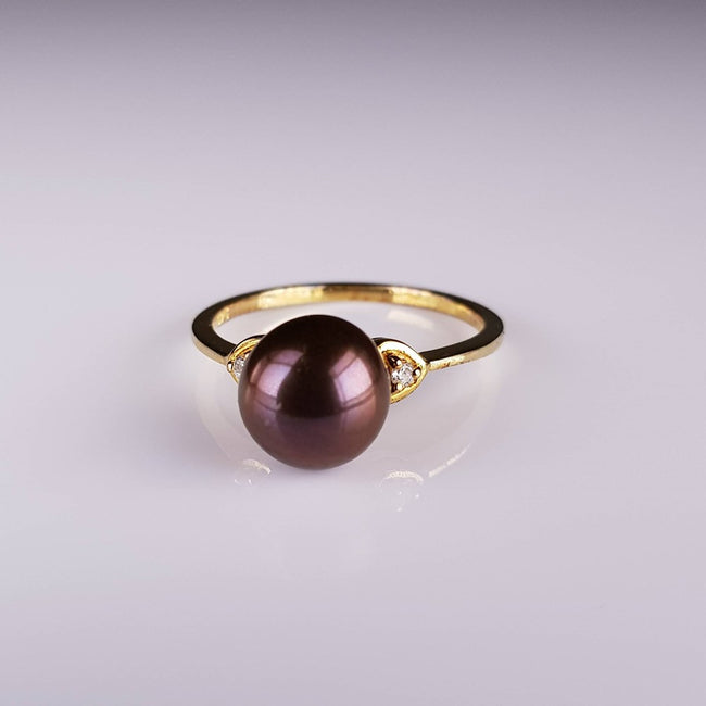 Pure Pearl Ring set in St Silver Gp     1mm