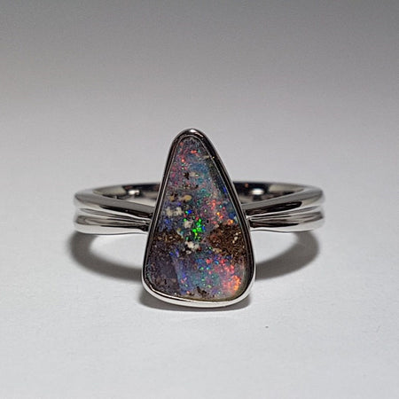 Boulder Opal Ring set in Sterling Silver