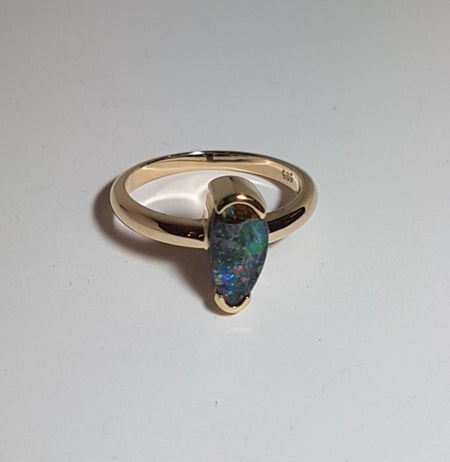 Boulder Opal Ring set in St Silver
