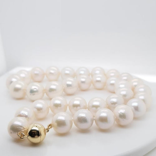 Edison Pearl 12-14mm Strand set in 9K Y GOLD