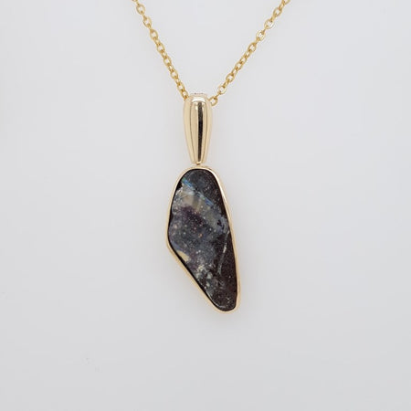 Boulder Opal 30ct.Pendant set in ST SILVER 23x17mm