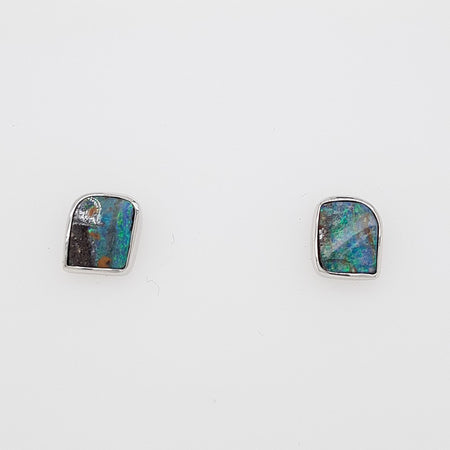 Boulder Opal 2.45ct.Earrings set in 14K Y GOLD