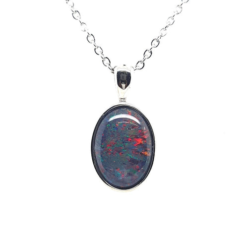 A Genuine Natural Triplet Opal Pendant set in Stainless steel