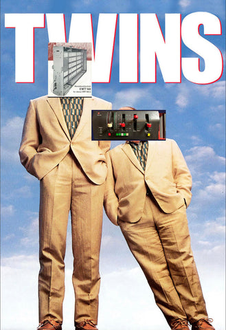 A meme about the 1988 movie Twins, where both characters are made into plate reverb devices