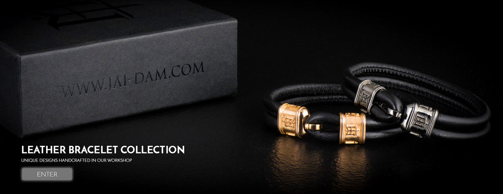 Men's Leather Bracelet | Jai Dam Handcrafted Jewelry