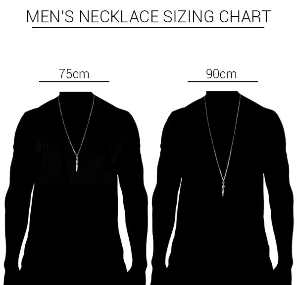 Jai Dam necklace sizing chart