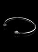 BANGLE BRACELET | SILVER FACETED BALLS