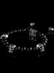 BASIC BRACELET | 8MM STERLING SILVER SKULLS | ONYX