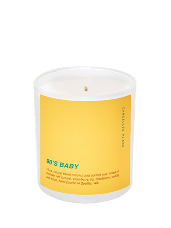 90's baby cancelled plans candle