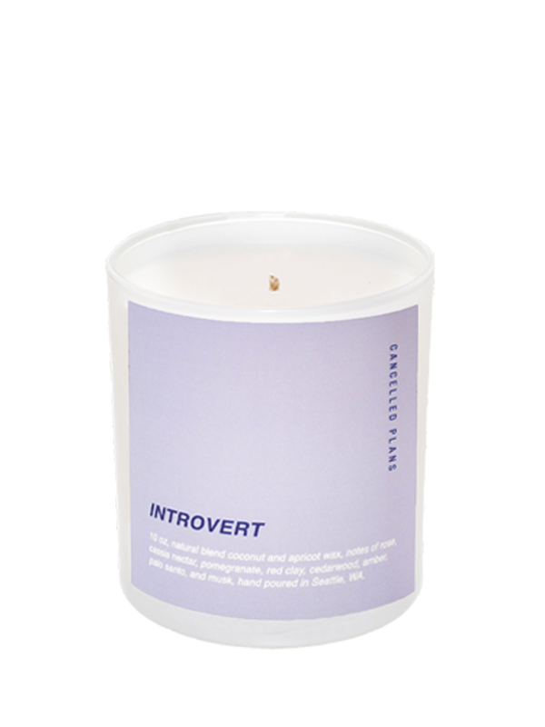 cancelled plans introvert candle