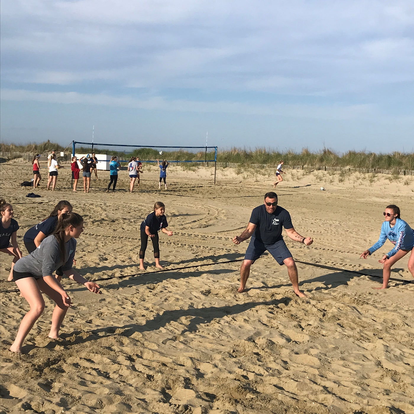 youth beach volleyball players in Bradley Beach