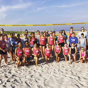 Youth beach volleyball clinics and camps.