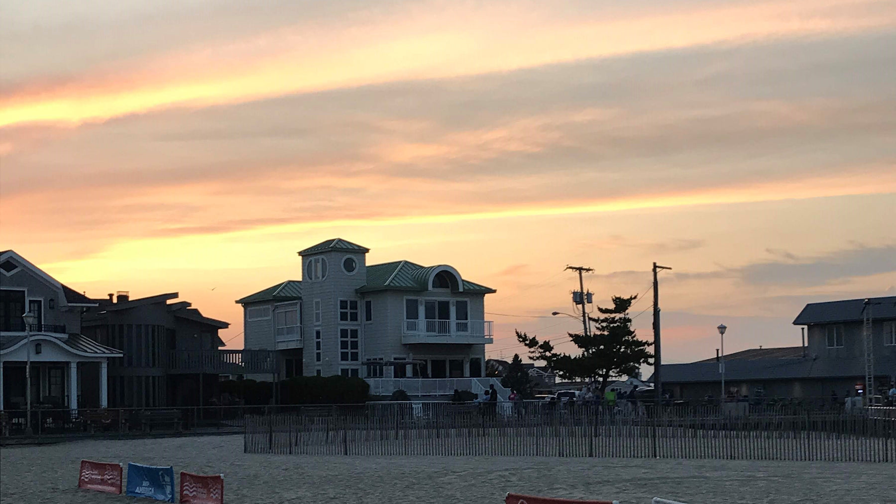 sunset over Point Pleasant