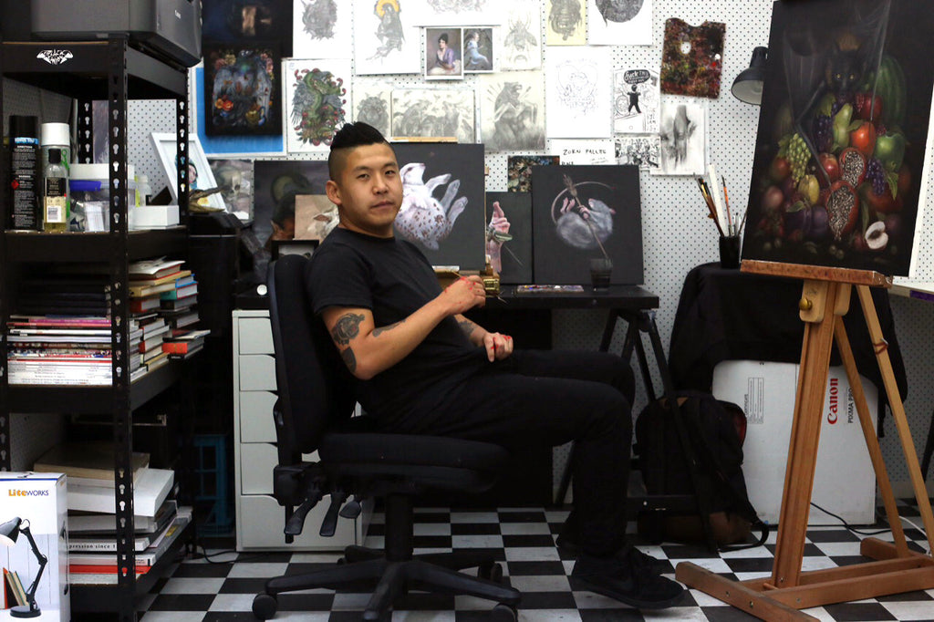 Sam Yong talks about 'KEEPSAKES' opening at Outré Gallery