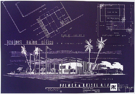Palm Springs Project Sales Office Architectural Plans