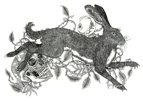 Brambles, Rowan and the Hare (B&W)