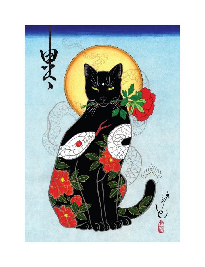Black Cat (Rose Cat)