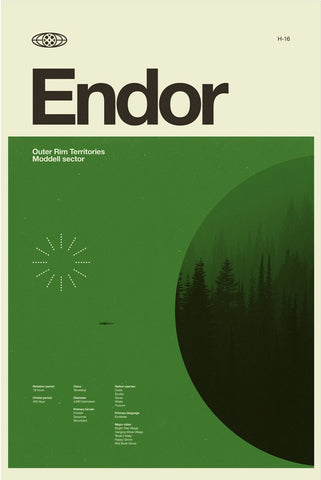 Star Wars Planets - Endor