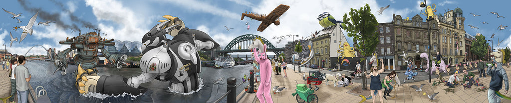 Battle on the River Tyne : BRIGHT Edition (Augmented Reality)