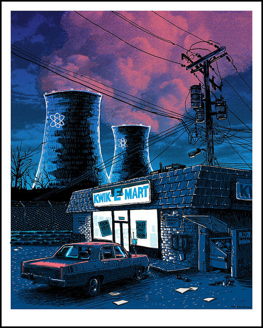 Night Falls on the Springfield Nuclear Power Plant (Simpsons)