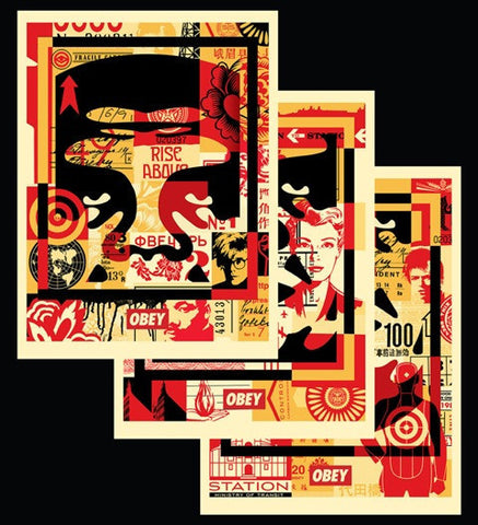 Obey - Collage I, II & III (Set of 3 prints)