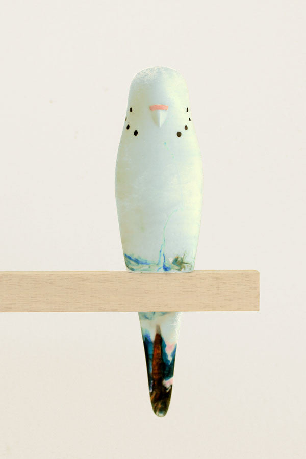Resin Budgerigar - 'Breeze'