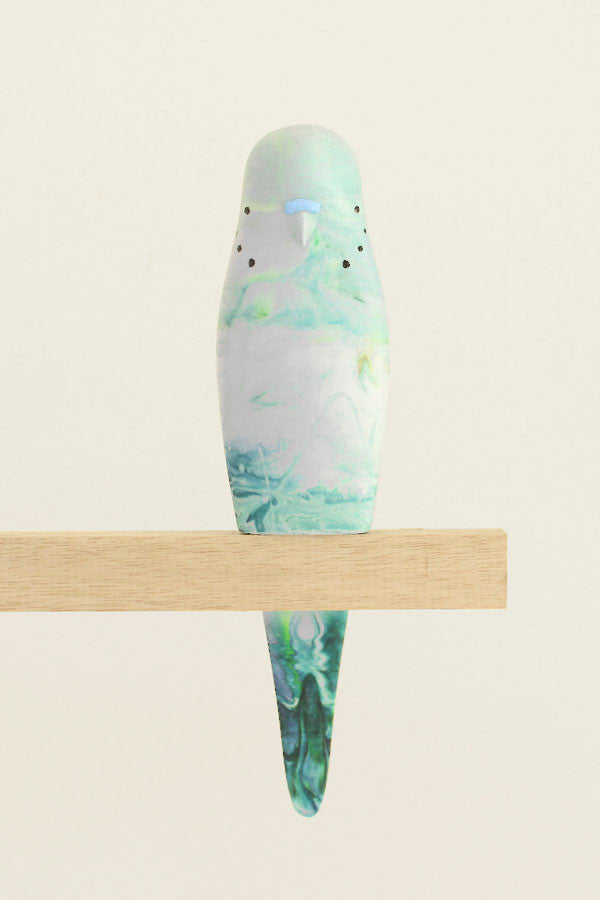 Resin Budgerigar - 'Jewel'