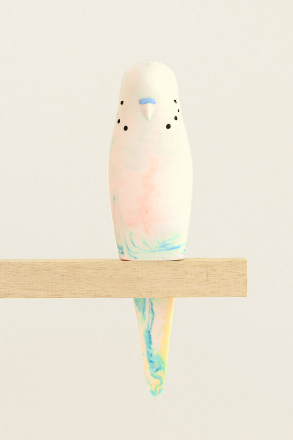 Resin Budgerigar - 'Sherbet'