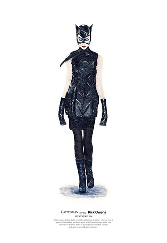 Catwoman wears Rick Owens