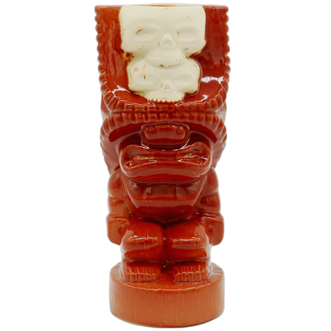 Double Skull Tiki - Red