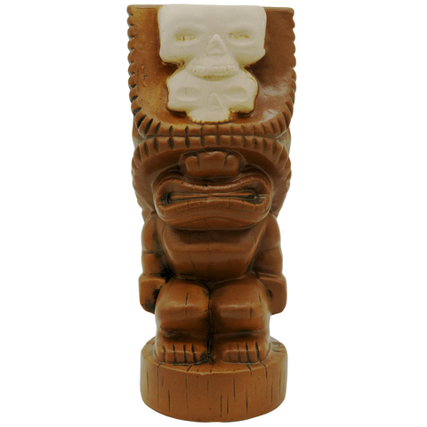 Double Skull Tiki - Brown