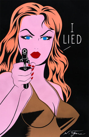 I Lied (Gold) (canvas edition)