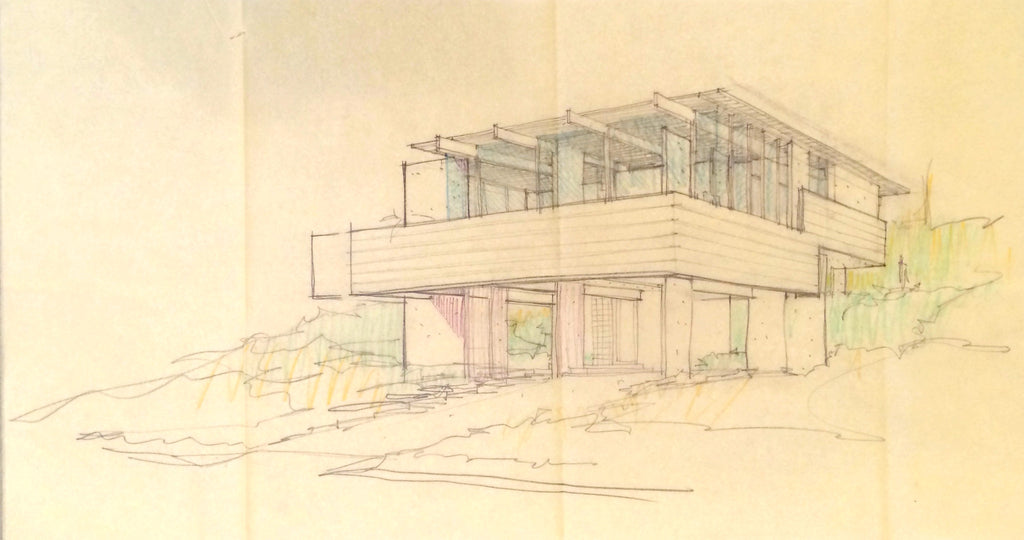 Architectural Rendering for a Proposed House in Los Angeles