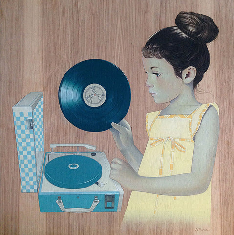 Girl and Record
