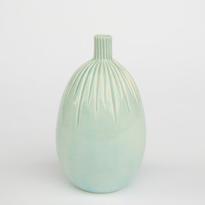 Blue Bud Vase | Carved