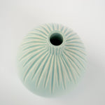 Load image into Gallery viewer, Blue Bud Vase | Carved