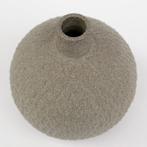 Granite Grey Bud Vase mini | Carved
