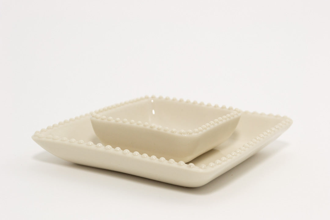 2-Piece Jewelry Dish | Dotted Edge