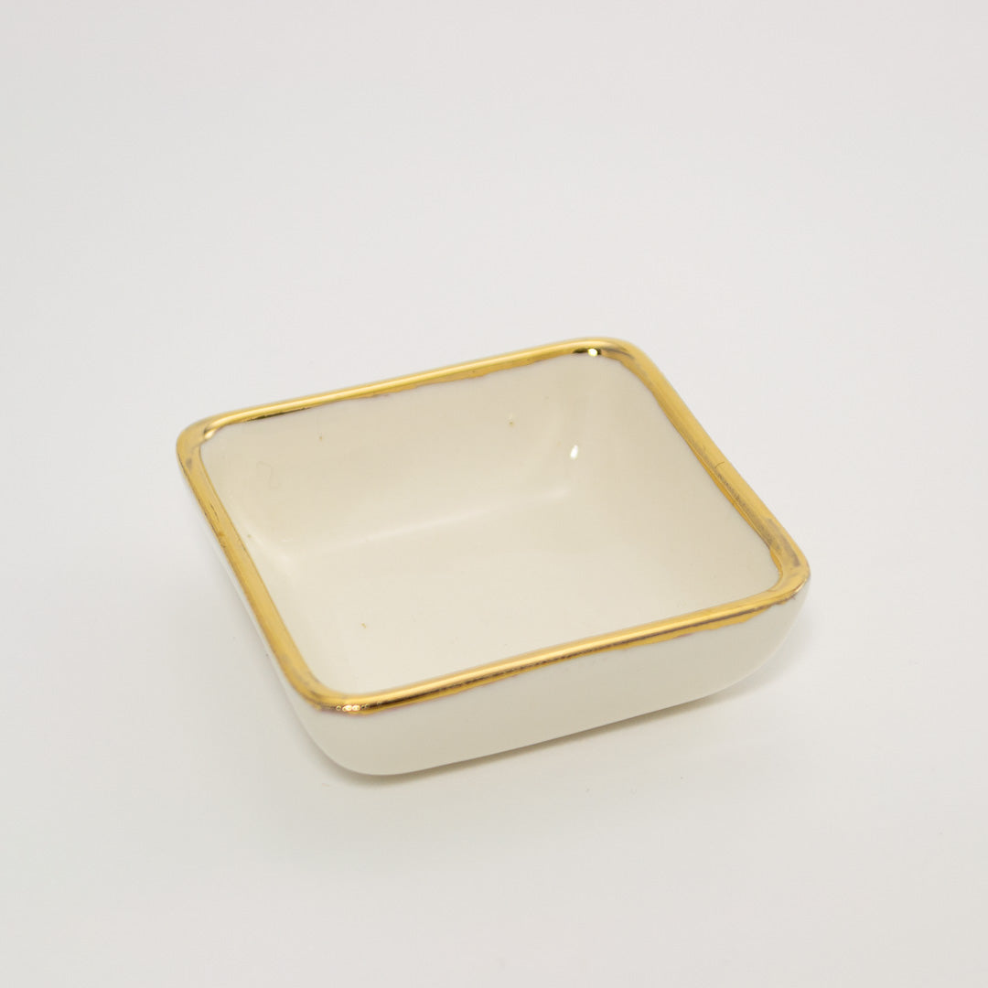 Gold Edge Ring Tray