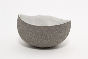 Granite Grey/White Dish | Carved