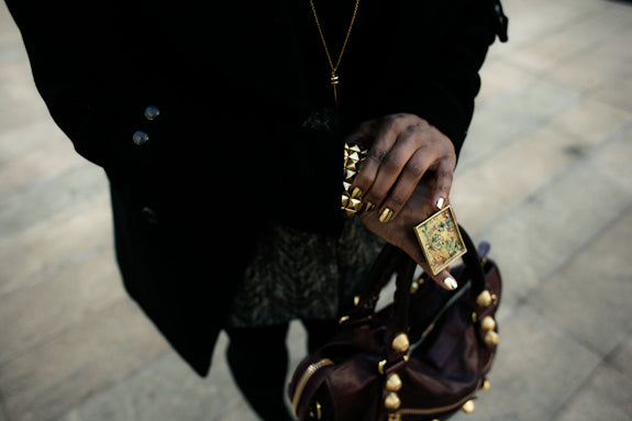 Fashion Bomb Daily features Jenny Dayco jewelry on Claire Sulmers